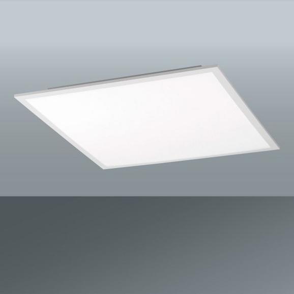 Stropna Led-svetilka Flat - bela, Moderno, kovina/umetna masa (30/30/5,6cm)