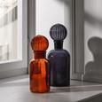 Dekoflasche Milla - Dunkelgrau, MODERN, Glas (9,8/27cm) - Mömax modern living
