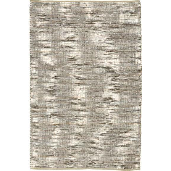 Handwebteppich Stefan Beige ca. 160x230cm - Beige, MODERN, Leder/Textil (160/230cm) - Mömax modern living