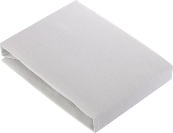 Spannleintuch Basic Platin ca. 180x200cm - Silberfarben, Textil (180/200cm) - Mömax modern living