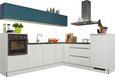 Kotna Kuhinja Glastec - bela/smaragdno zelena, Moderno, kovina/les (275/245cm) - Nolte Küchen