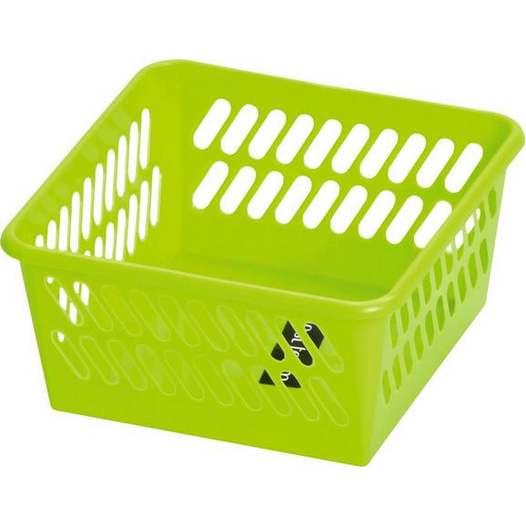Košara Mimi - svetlo zelena, umetna masa (9,5/4,9/9,5cm) - Mömax modern living