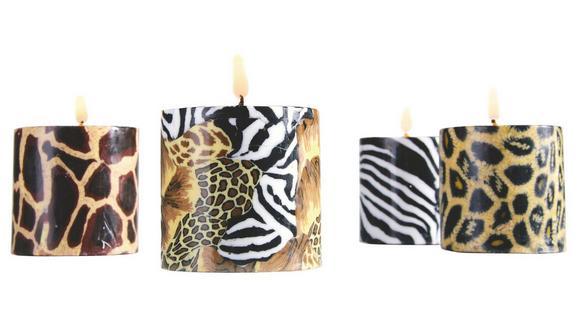 Sveča Safari -top- - temno rjava/oranžna, Trendi (7,5/7,5cm) - MÖMAX modern living