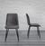 Stuhl Vittoria - Dunkelgrau, MODERN, Textil/Metall (46,5/85/39,5cm) - Modern Living