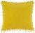 Zierkissen Pompon Gelb 45x45cm - Gelb, Textil (45/45cm) - Mömax modern living