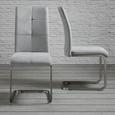 Schwingstuhl Lucie - Hellgrau, MODERN, Textil/Metall (42,5/98/45cm) - Modern Living