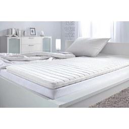 Posteljni Nadvložek Living Easy - bela, Konvencionalno, tekstil (90/200cm) - Nadana