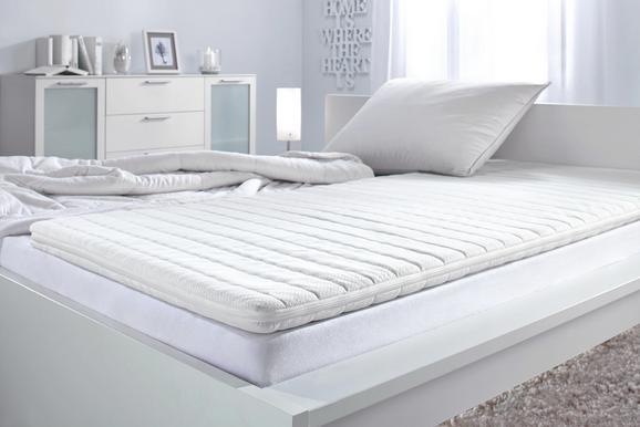 Topper Aus Kaltschaum ca.90x200cm - Weiß, KONVENTIONELL, Textil (90/200cm) - Nadana