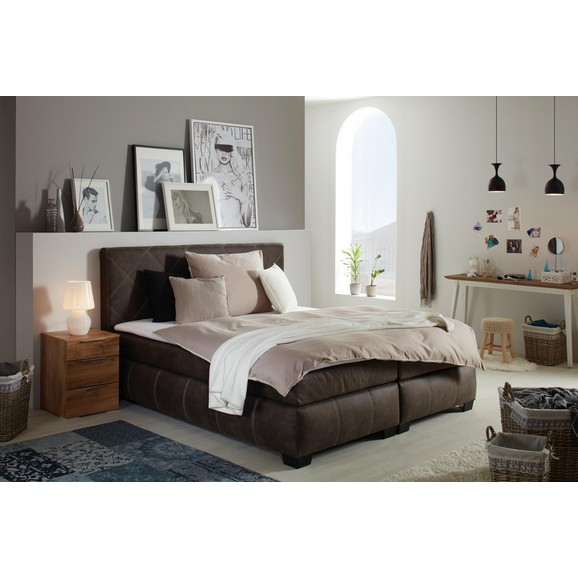 boxspringbett in braun ca 180x200cm online kaufen m max. Black Bedroom Furniture Sets. Home Design Ideas