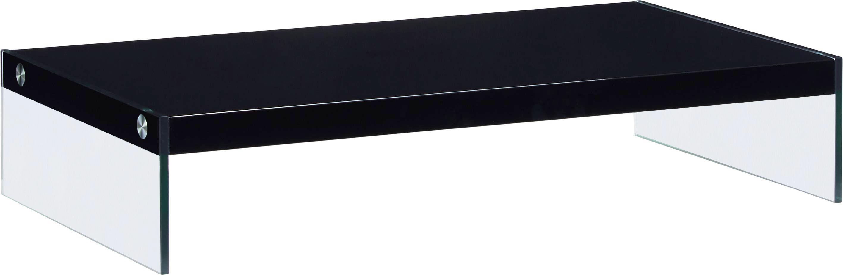 TV-Aufsatz Schwarz - Klar/Schwarz, Glas/Holzwerkstoff (80/16/42cm) - MÖMAX modern living