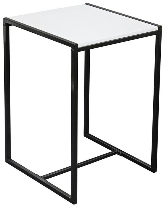 Mizica Bali - črna/bela, Moderno, kovina/leseni material (39/58/39cm) - Mömax modern living