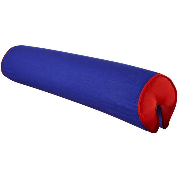 NACKENROLLE NACKENROLLE - Blau/Rot, Design, Textil (80/16/16cm)