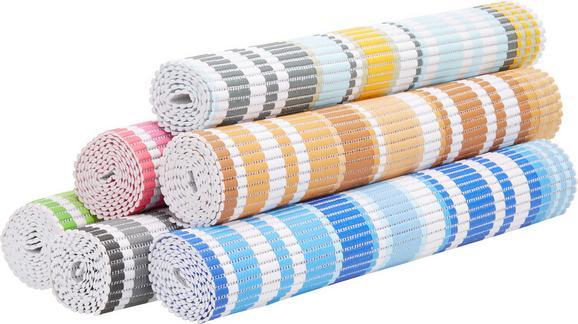 Antirutschmatte Stripe - Blau/Gelb, Textil (65/180cm) - Mömax modern living