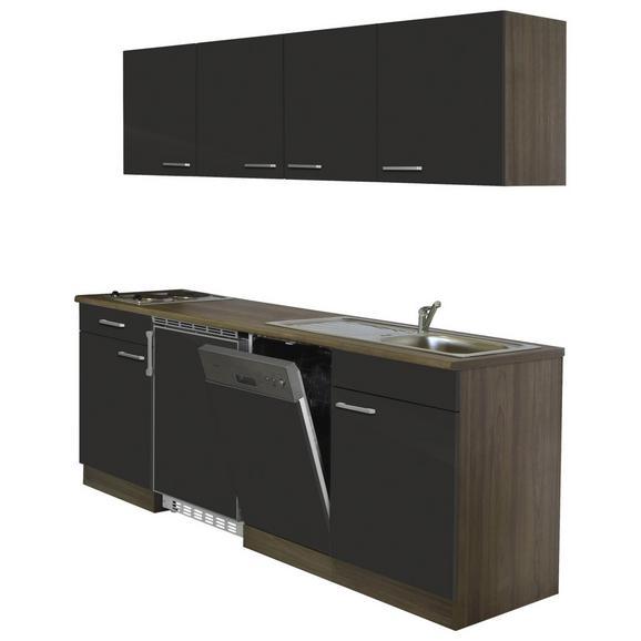Küchenblock ECONOMY 195 - Eichefarben/Grau, KONVENTIONELL, Holzwerkstoff (195/200/55cm) - Livetastic
