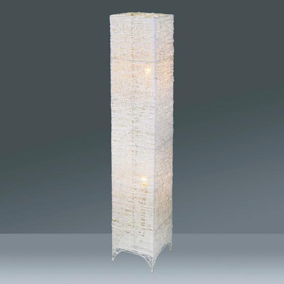 Stehleuchte Fatima, max. 40 Watt - Weiß, ROMANTIK / LANDHAUS, Textil/Metall (20/20/115cm) - Mömax modern living