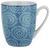 Kaffeebecher Nina aus Porzellan ca. 340ml - Blau, Keramik (8,5/10cm) - Mömax modern living