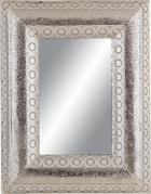Fali Tükör Cleopatra - ezüst színű, fém (70/90/5,5cm)