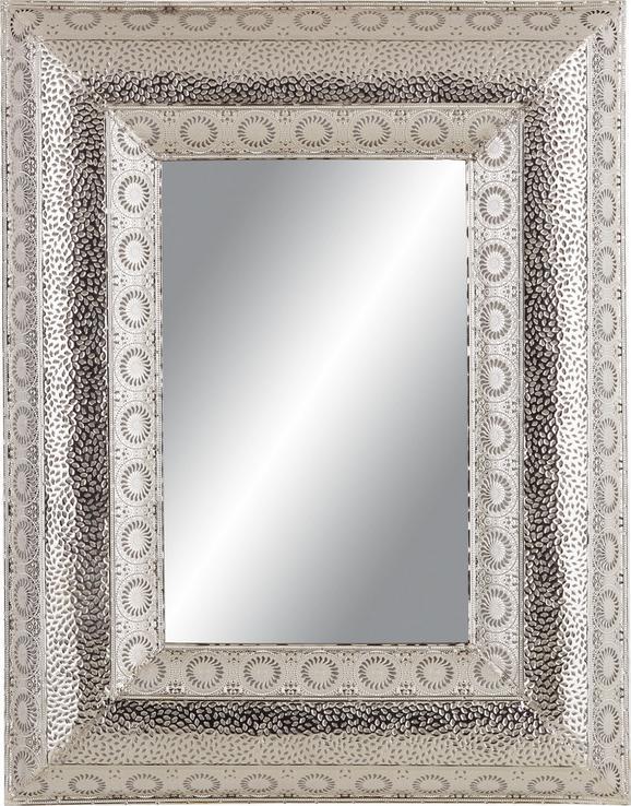 Stensko Ogledalo Cleopatra - srebrna, kovina (70/90/5,5cm)