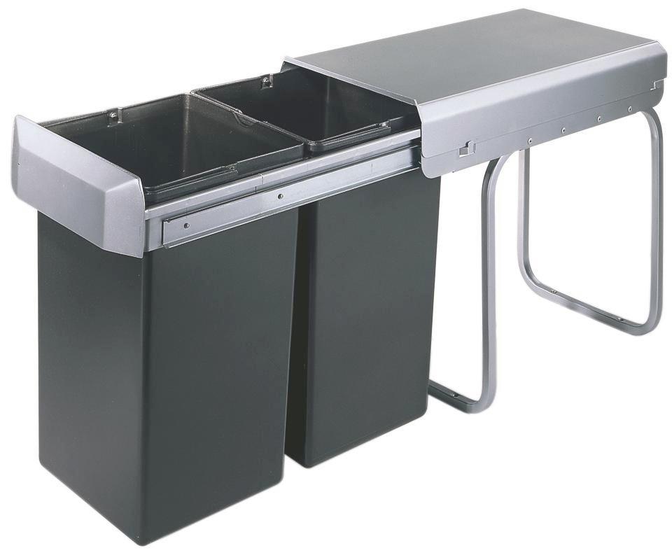 Abfallsammler 600794   Anthrazit/Silberfarben, Basics, Kunststoff (25,9/38