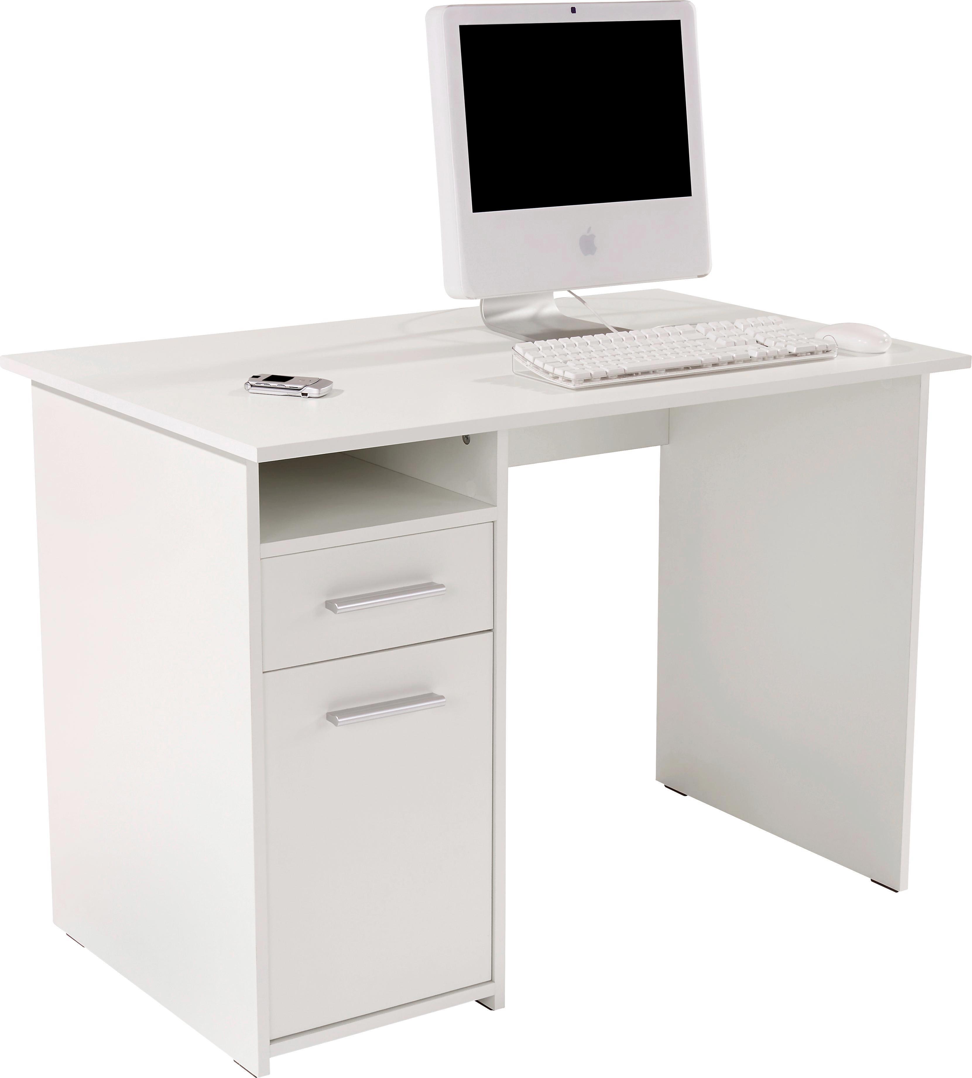 Íróasztal Palermo - fehér, modern, faanyagok (110/74/60cm)