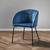 Armlehnstuhl in Blau 'Vani' - Blau/Schwarz, MODERN, Textil/Metall (63/81/51cm) - Bessagi Home
