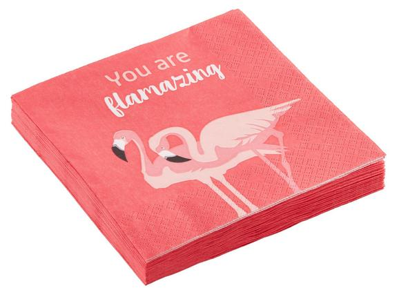 Serviete Flamingo Couple - roza/bela, papir (33/33cm) - Mömax modern living