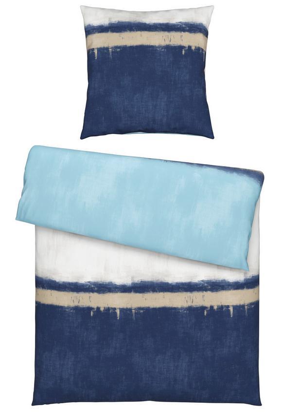 Bettwäsche Marco, ca. 135x200cm - Blau/Terra cotta, LIFESTYLE, Textil (135/200cm) - Mömax modern living