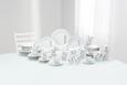 Kombiservice Chloe in Weiß, 62-teilig - Weiß/Grau, KONVENTIONELL, Keramik - Mömax modern living
