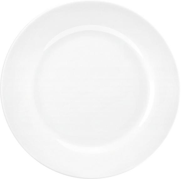 Dessertteller Adria aus Porzellan Ø ca. 19cm - Weiß, KONVENTIONELL, Keramik (19cm) - Mömax modern living
