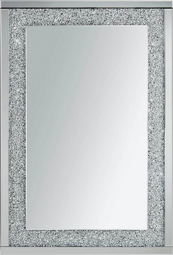 Wandspiegel ca. 80x120x4cm - Silberfarben, MODERN, Glas/Holz (80/120/4cm) - Mömax modern living