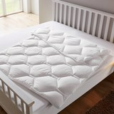 Bettdecke Irisette ca.135x200cm - Weiß, KONVENTIONELL, Textil (135 x 200cm) - Irisette