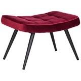 Hocker aus Samt in Rot - Rot/Schwarz, MODERN, Textil/Metall (39/39/59cm) - Modern Living