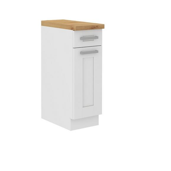 Dulap De Bucătărie Luisa - alb, Konventionell, compozit lemnos (30/86/60cm)