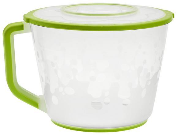 Rührschüssel Daisy aus Kunststoff Ø ca. 21,5cm - Weiß/Grün, Kunststoff (21,5/14,3cm) - Mömax modern living