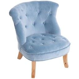 Kindersessel Blau/49x48x53,5cm - Blau, ROMANTIK / LANDHAUS, Textil (49/48/53,5cm) - Premium Living