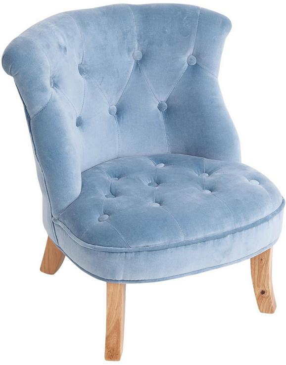 Kindersessel in Blau, ca. 49x48x53,5cm - Blau, ROMANTIK / LANDHAUS, Textil (49/48/53,5cm) - Premium Living