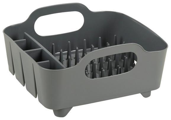 Geschirrabtropfkorb Ute Grau - Grau, MODERN, Kunststoff (36,8/33,5/18cm) - Premium Living
