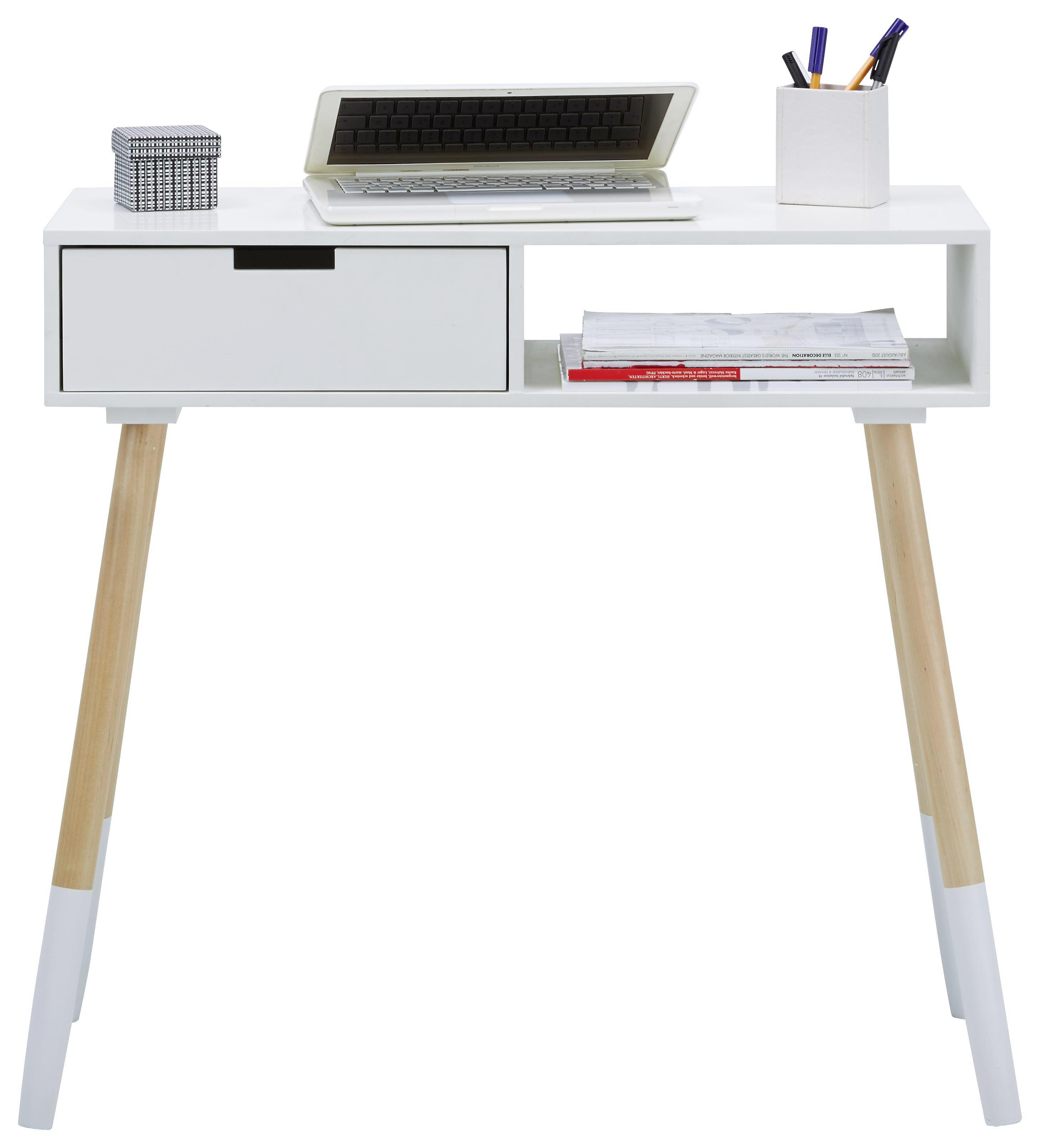 Eckschreibtisch weiß holz  Schreibtisch in Weiß aus Holz online kaufen ➤ mömax