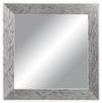 Stensko Ogledalo Clara - srebrna, Moderno, steklo/leseni material (30/30cm)