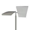 Stoječa Led-svetilka Ruben - srebrna, kovina/umetna masa (62/61/196cm)