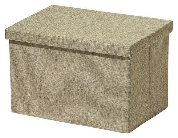 Aufbewahrungsbox Cindy Beige - Beige, MODERN, Textil (38/26/24cm) - Mömax modern living