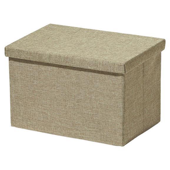 Faltbox Cindy in Beige ca. 38x26x24cm - Beige, MODERN, Papier/Kunststoff (38/26/24cm) - Mömax modern living