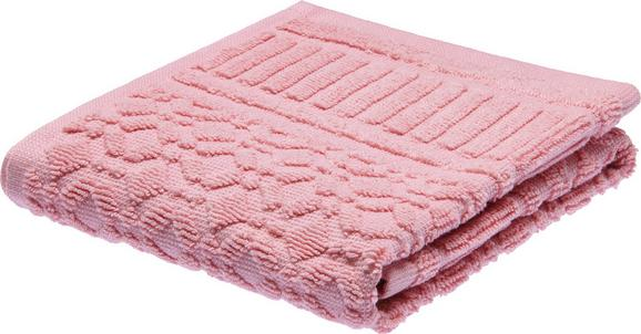 Gästetuch Carina in Rosa - Rosa, ROMANTIK / LANDHAUS, Textil (30/50cm) - Mömax modern living