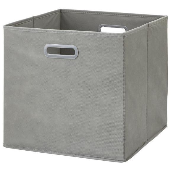 Zložljiv Zaboj Elli -ext- -top- - siva, Moderno, karton/tekstil (33/33/32cm) - Modern Living