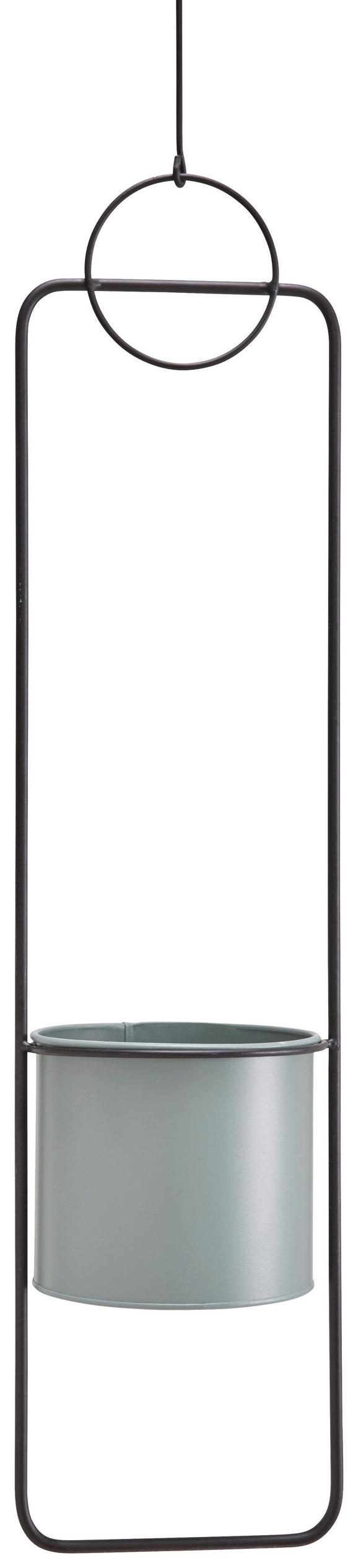 Pflantopfhänger Frame aus Metall ca. 89 cm - Schwarz, LIFESTYLE, Metall (17/15,5/89cm)