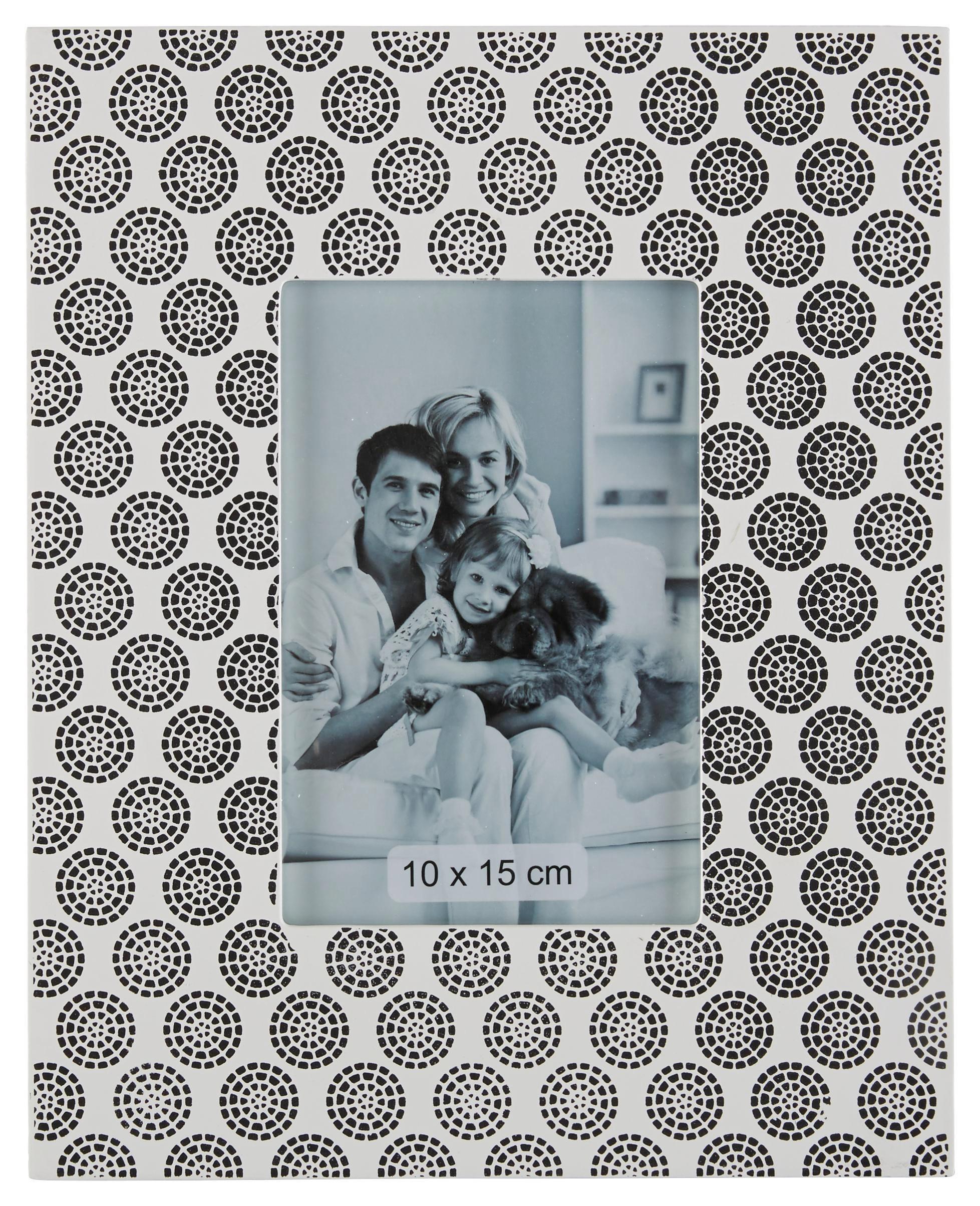 Fotókeret Pattern - fekete/fehér, fa (23/1,5/28cm) - MÖMAX modern living