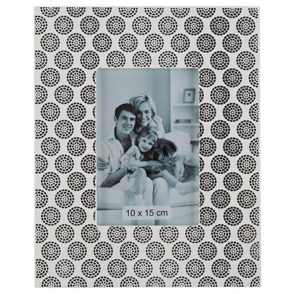 Fotorahmen Shiva, 23x1,5x28cm - Schwarz/Weiß, Holz (23/28/1,5cm) - Mömax modern living
