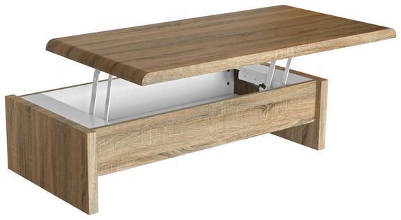 Klubska Miza Daytona - hrast sonoma, Moderno, leseni material (120/35-60/60cm) - Mömax modern living
