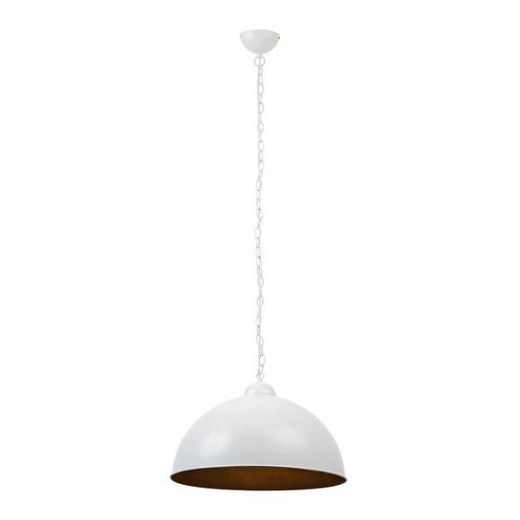 Hängeleuchte max. 60 Watt 'Mona' - Goldfarben/Weiß, MODERN, Kunststoff/Metall (50/50/150cm) - Bessagi Home