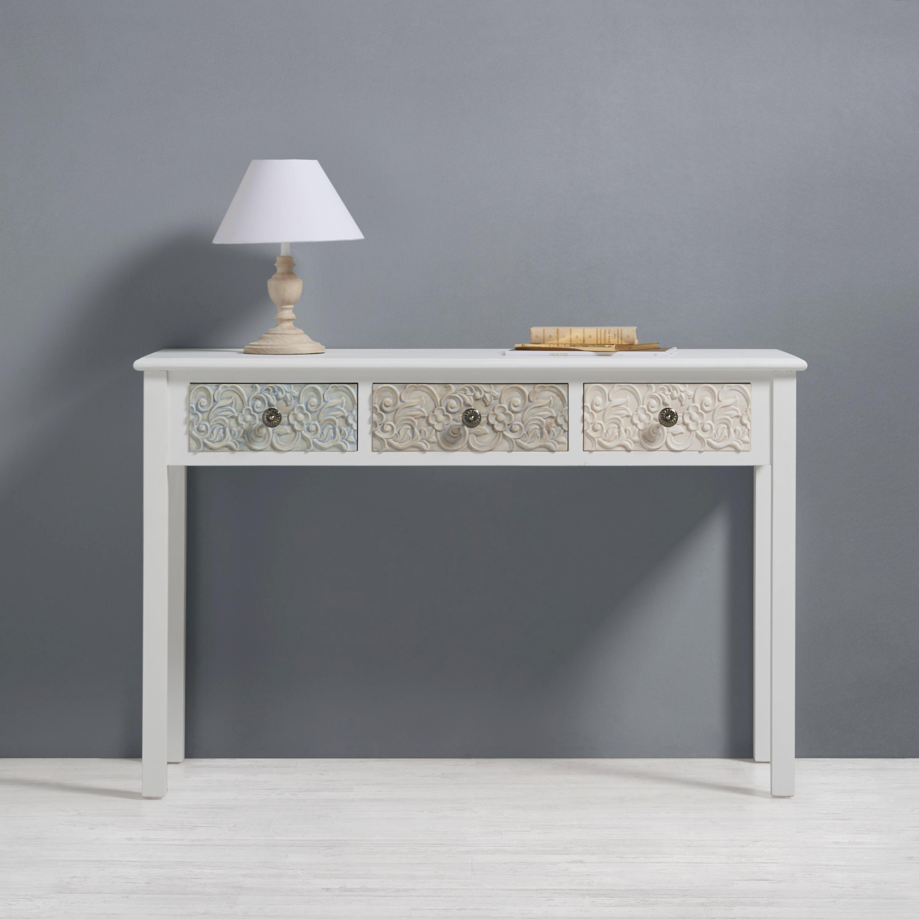 Konsolentisch Avery 120x40cm - Beige/Weiß, MODERN, Holz/Metall (120/78/40cm) - PREMIUM LIVING